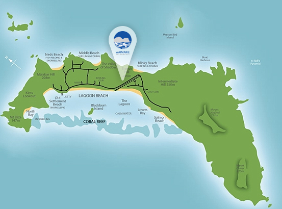 Lord Howe Island Walking Map