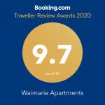 Booking.com Traveler Review Awards 2020 9.7 Rating